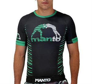 Manto Beast Short Sleeve Green Rashguard